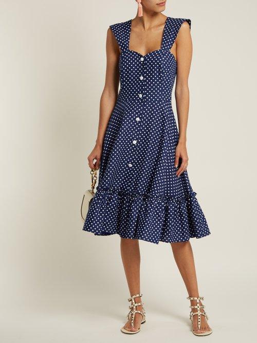 Camilla ruffle-trimmed dress by Gioia Bini