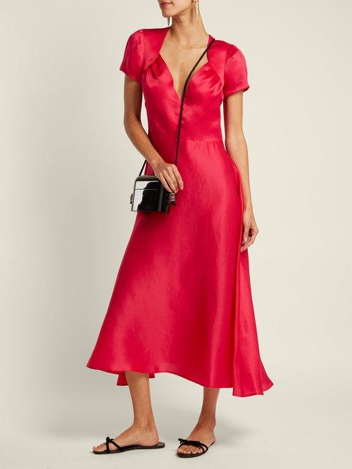 Tina silk dress by Gioia Bini