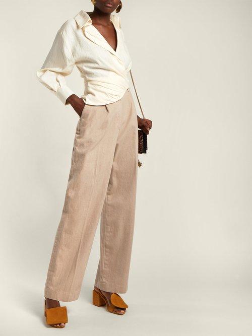 Sabah linen-blend shirt by Jacquemus