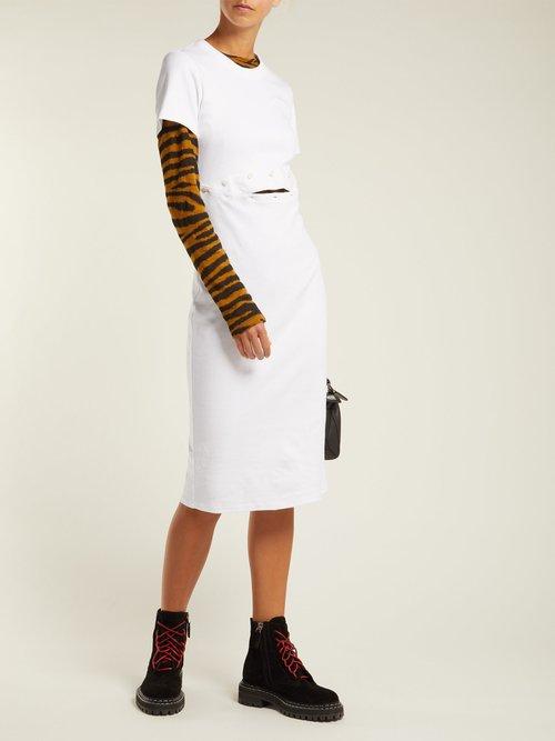 Cotton-jersey T-shirt dress by Pswl