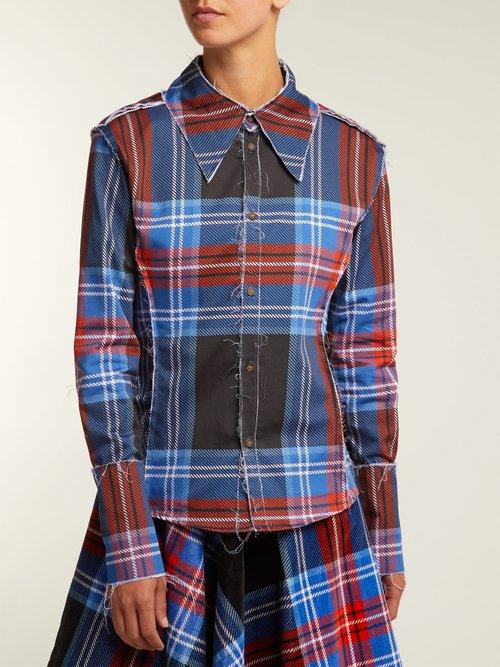 Teddy tartan cotton shirt by Charles Jeffrey Loverboy