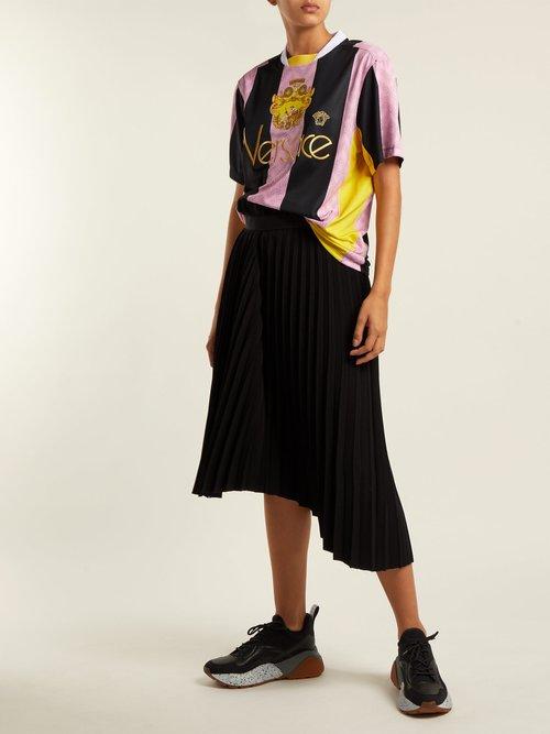 Striped football shirt by Versace