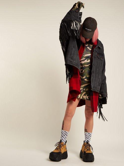 Tasselled Denim Jacket by Vetements