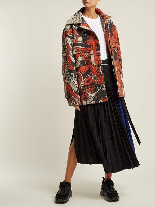 Wool Blend Jacquard Jacket by Edward Crutchley