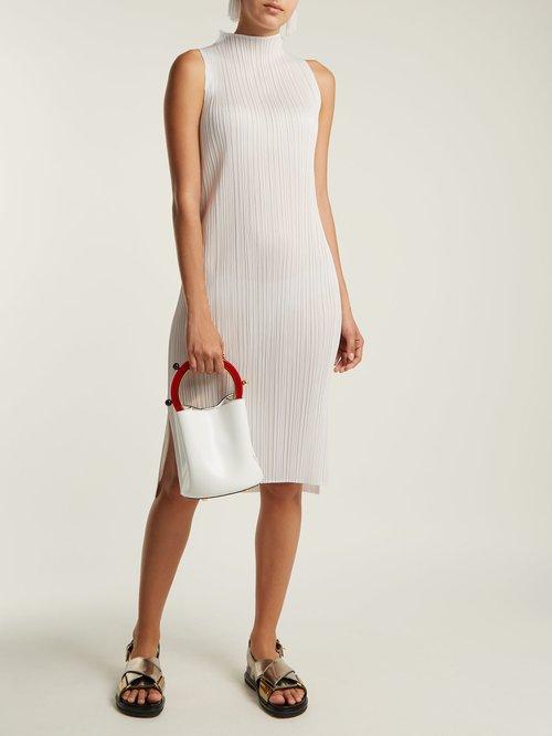 Sleeveless pleated dress by Pleats Please Issey Miyake