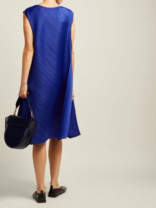 Pleated Sleeveless Midi Dress by Pleats Please Issey Miyake