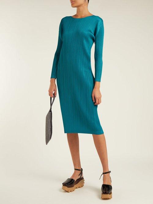 Pleated Midi Dress by Pleats Please Issey Miyake