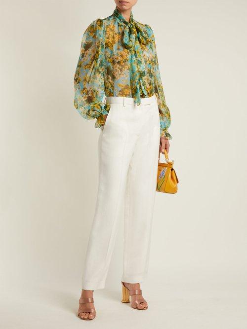 Primrose-print silk-chiffon blouse by Dolce & Gabbana