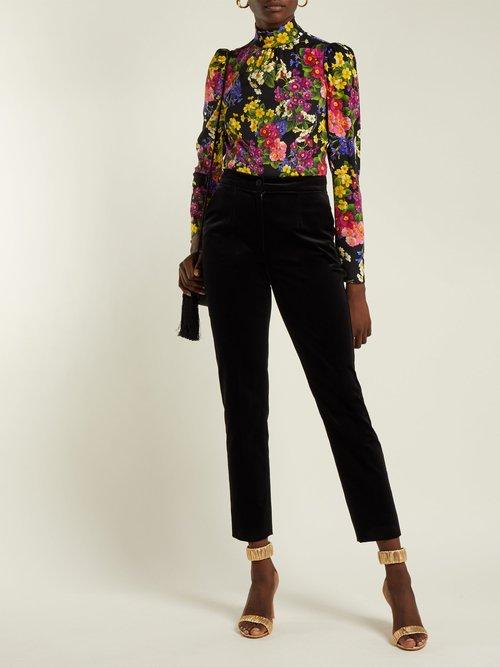 Primrose-print silk-blend blouse by Dolce & Gabbana