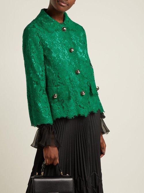 Cropped Lace Jacket by Dolce & Gabbana