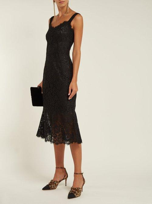 Scalloped Edge Lace Dress by Dolce & Gabbana