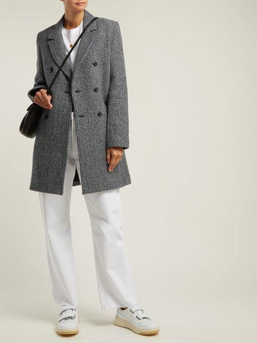 Joan Herringbone Wool Blend Coat by A.P.C.