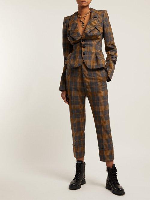 Alcoholic Tartan Wool Jacket by Vivienne Westwood