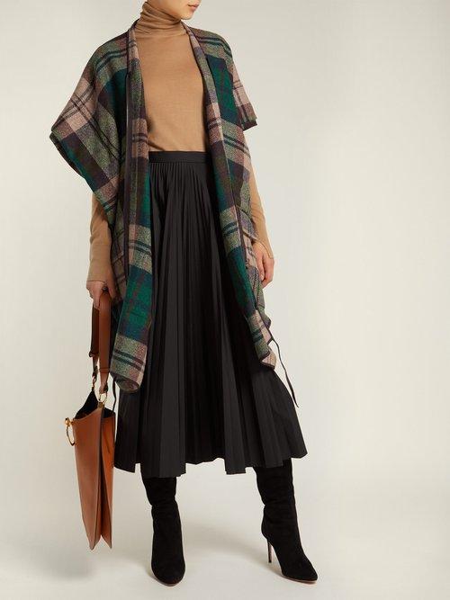 Photo of Checked Tweed Coat by Vivienne Westwood - shop Vivienne Westwood online sales