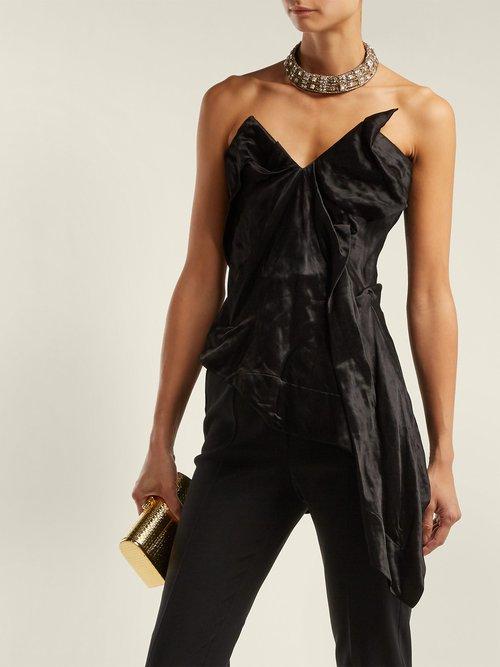 Asymmetric satin corset by Vivienne Westwood