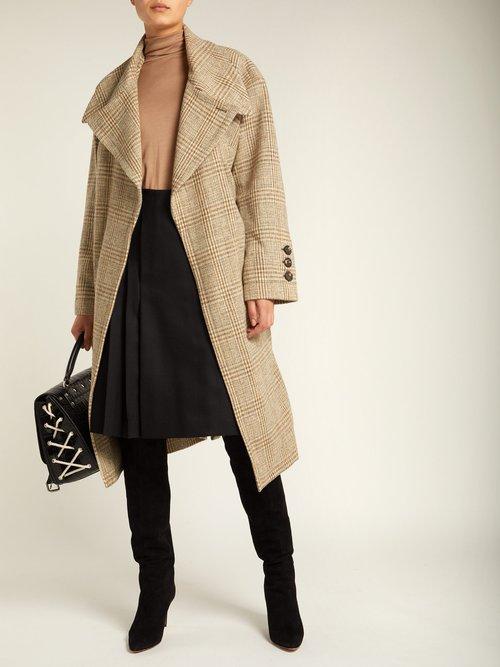 Wilma Belt Fastening Wool Coat by Vivienne Westwood