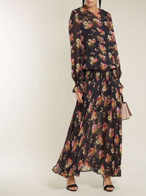 Rylee floral-print dress by Preen Line