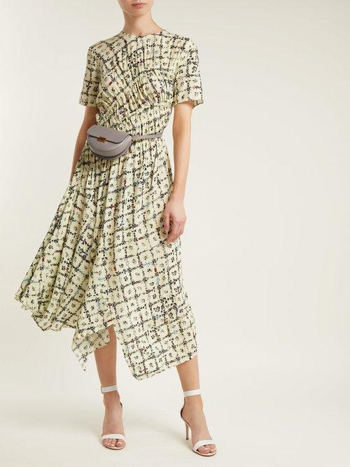 Keziah floral-print handkerchief-hem midi dress by Preen Line