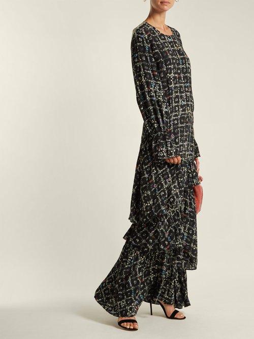 Amina Tiered Vine Print Dress by Preen Line