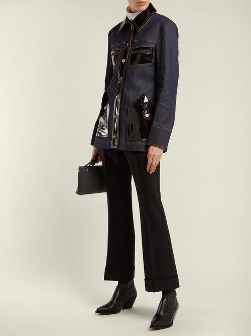 Spector Pvc Trimmed Denim Jacket by Ellery