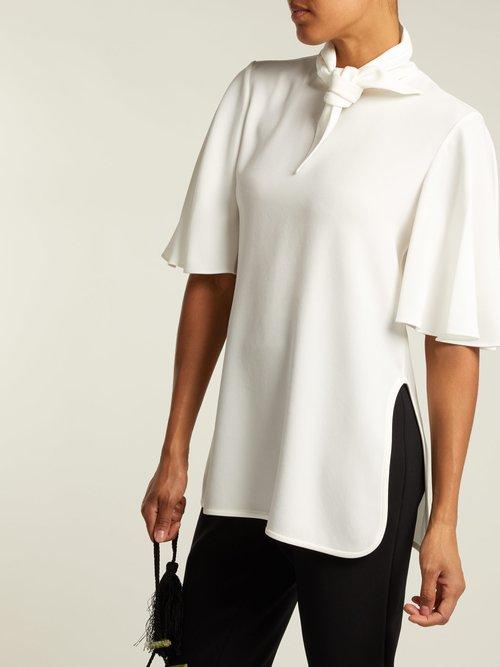 Salvador neck-tie crepe blouse by Ellery