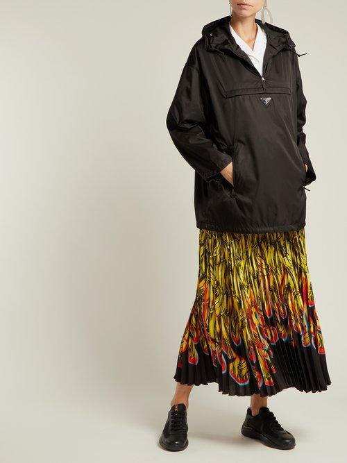 Hooded nylon rain jacket by Prada