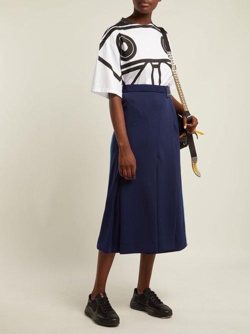 Round-neck Koolhaas-print T-shirt by Prada