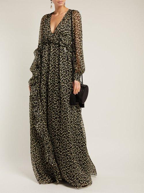 Photo of Star Print Silk Georgette Dress by No. 21 - shop No. 21 dresses online sales