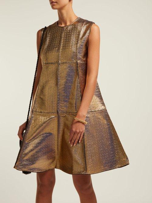 A-line panelled jacquard dress by Maison Rabih Kayrouz