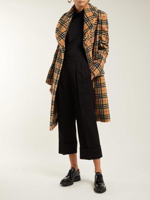 Hutchinson Vintage Check Fleece Coat by Burberry