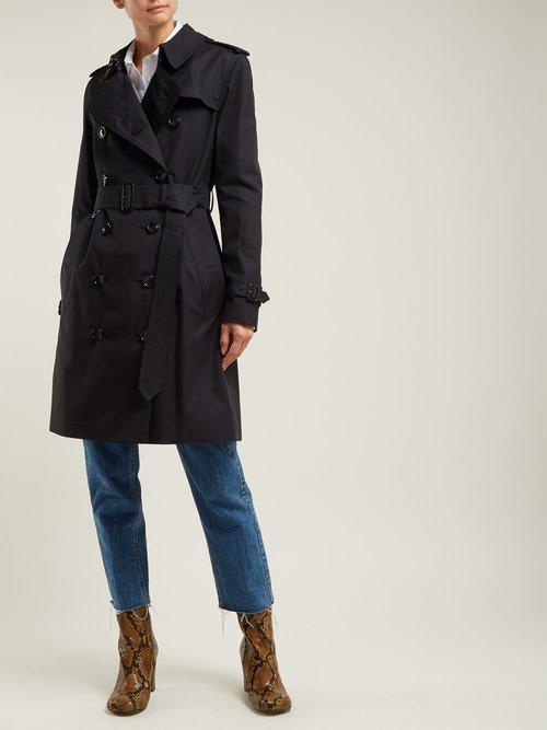Kensington Gabardine Trench Coat by Burberry