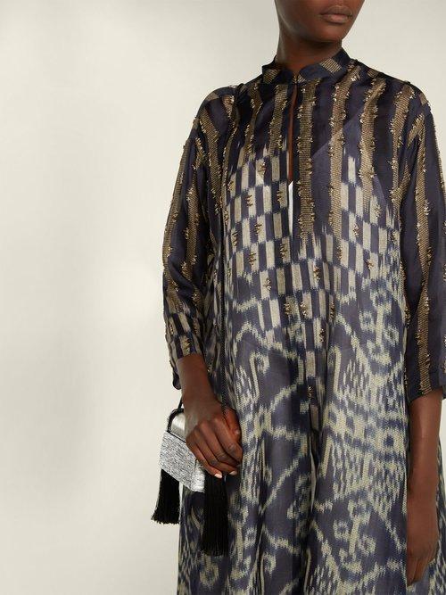 Hyrakel Silk Organza Trapeze Coat by Biyan