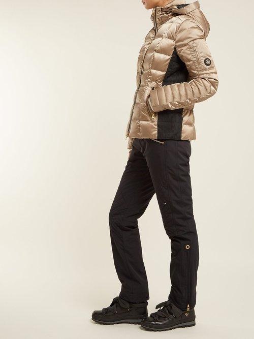 Uma Hooded Quilted Down Filled Ski Jacket by Bogner