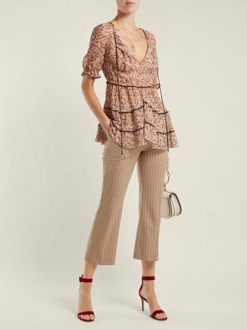 Kona floral-print silk-blend blouse by Altuzarra