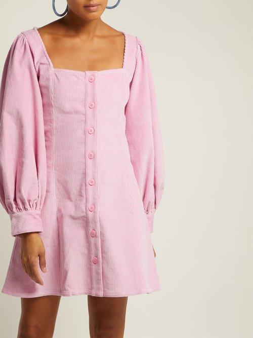 Chandler Corduroy Mini Dress by Staud