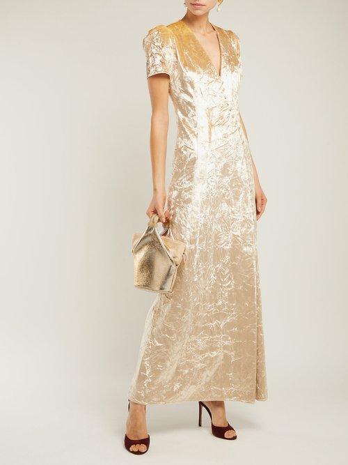 Doreen Crushed Velvet Dress by Brock Collection