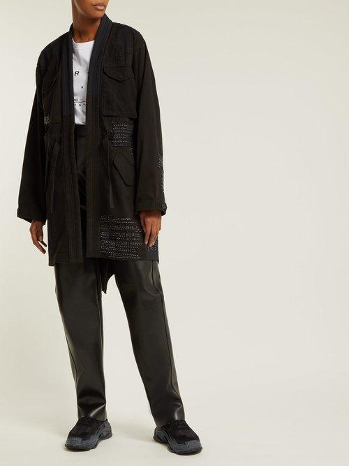 Ma65 Kimono Style Cotton Blend Jacket by Maharishi