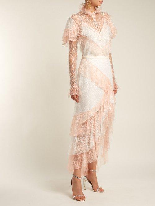 Ruffled lace blouse by Rodarte
