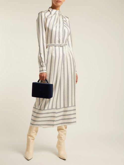 Josefina Boot Print Silk Dress by Gabriela Hearst