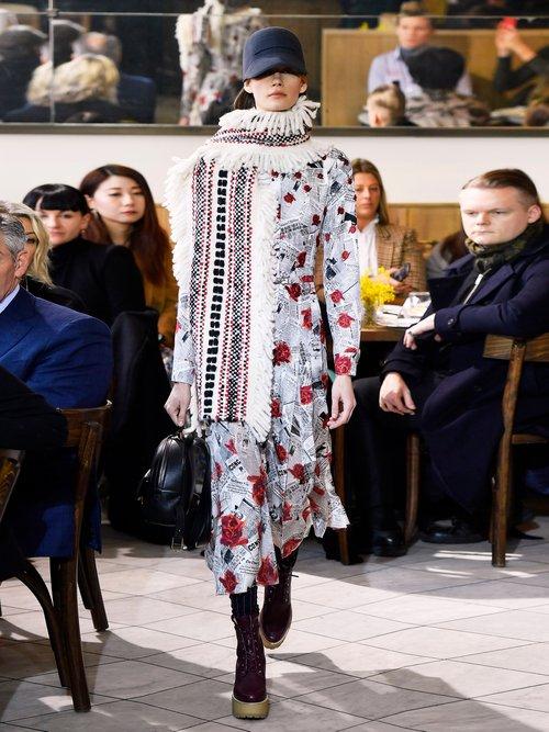 Jane newspaper-print silk twill shirtdress by Gabriela Hearst
