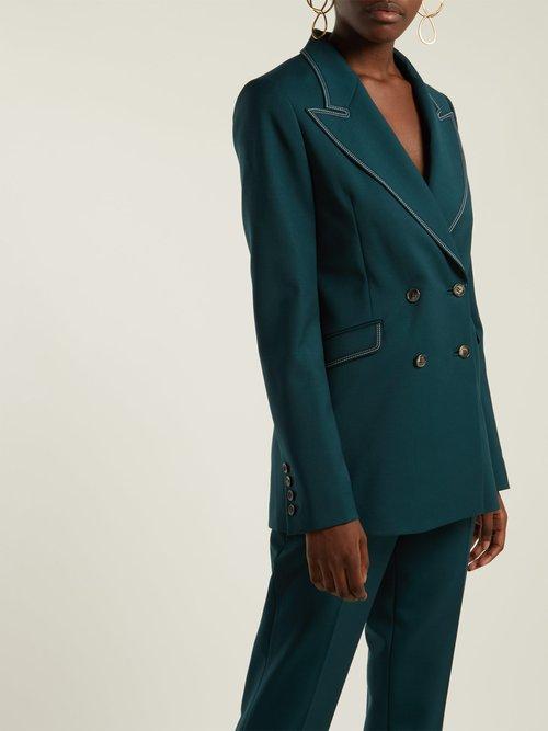 Angela Double Breasted Wool And Silk Blend Blazer by Gabriela Hearst