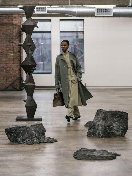 Neita Silk Trench Coat by The Row