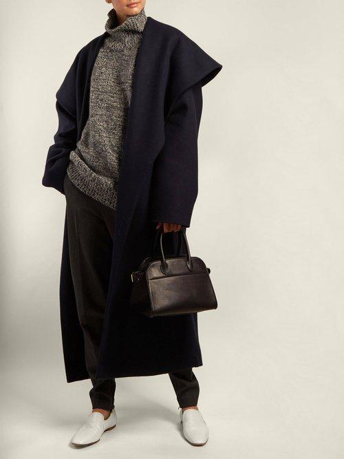 Utan Cape Collar Wool Coat by The Row