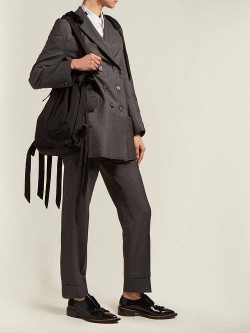 Bow-detail taffeta shoulder bag by Simone Rocha