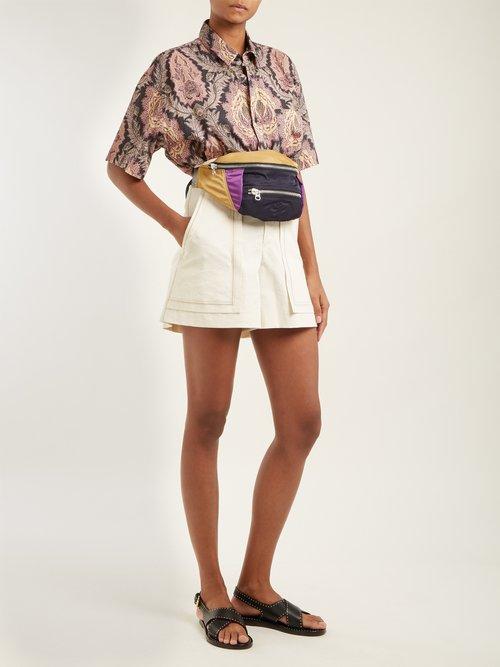 Iggy leaf-print cotton shirt by Isabel Marant