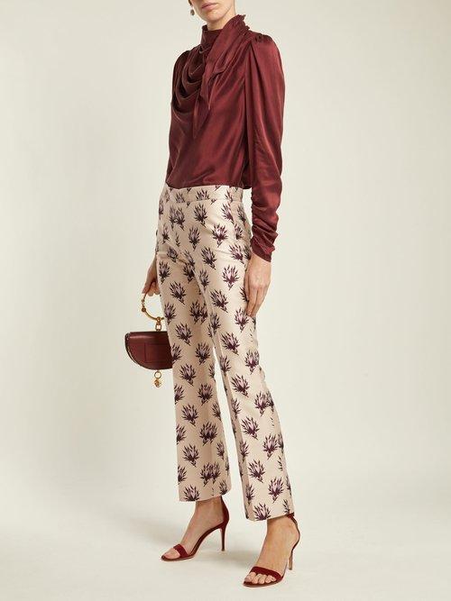 Unbridled silk-satin blouse by Zimmermann
