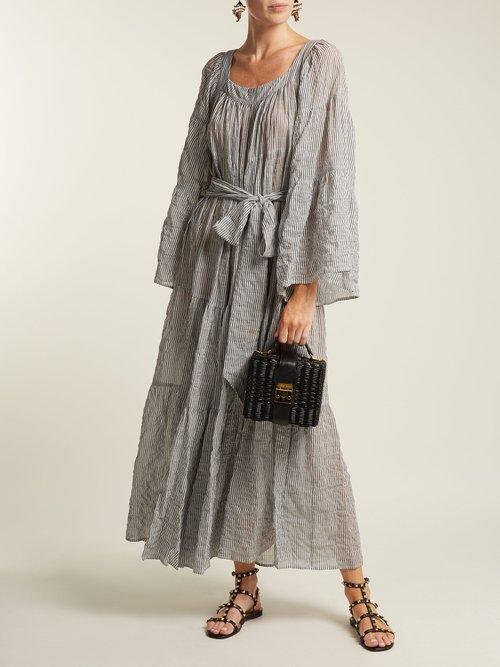 Tiered seersucker dress by Lisa Marie Fernandez