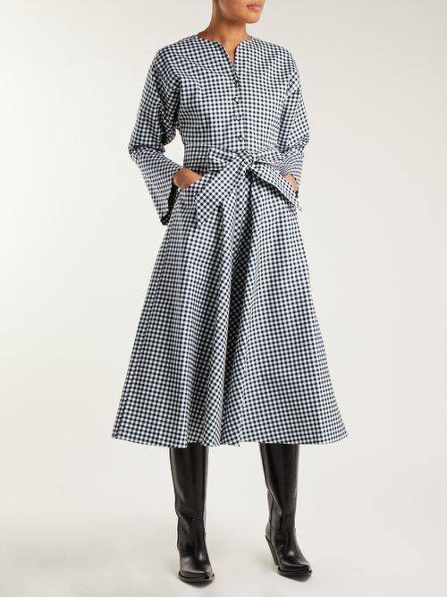 Gingham cotton dress by Sara Battaglia