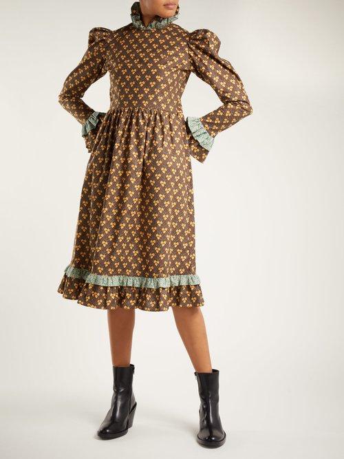 Floral-print cotton prairie dress by Batsheva