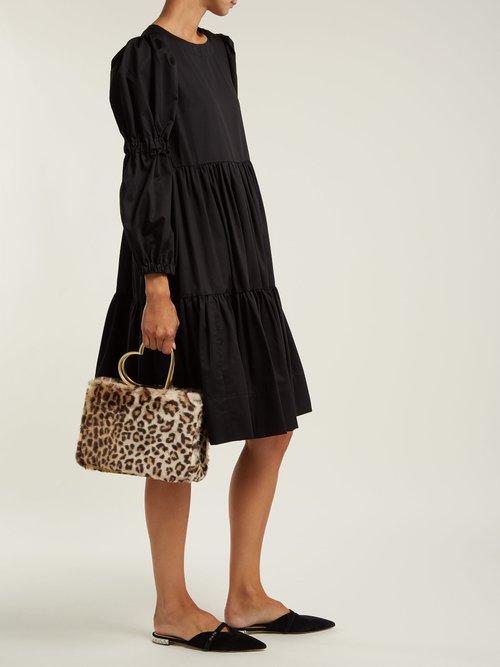 Nancy leopard-print faux-fur bag by Shrimps